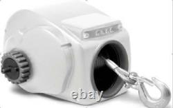 10000LBS 12V Electric Heavy-Duty Trailer Winch For 24ft Boat Saltwater White