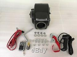 10000LBS 12V Electric Trailer Winch With Strap For 24ft Boat Freshwater Black