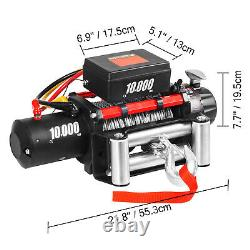 10000LBS Electric Winch 12V Steel Cable Off-road ATV UTV Truck Towing Trailer