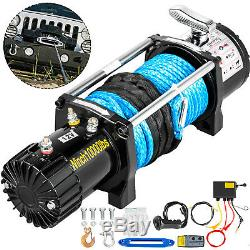 10000LBS Electric Winch Waterproof Truck Trailer 100FT Synthetic Rope Off-Road