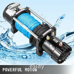 10000LB Electric Winch 12V Synthetic Cable Off-road ATV UTV Truck Towing Trailer