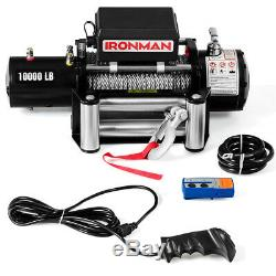 10000 lbs 12V Electric Recovery Winch Truck SUV Wireless Remote Control IP67