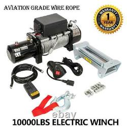 10000lbs 12V Electric Recovery Winch & Accs. Off-road Overlanding Free Shipping
