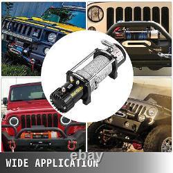 10000lbs Electric Winch 98.5Feet Steel Rope 4WD Waterproof Truck Towing Off-Road