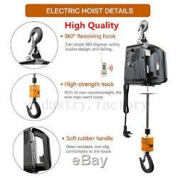 1100 LBS Electric Wireless Hoist Winch Hoist Crane Lift 110V Remote Control
