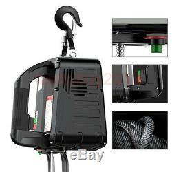 1100 Lb Electric Cable Hoist Crane Lift Garage Auto Shop Winch WithRemote 110V