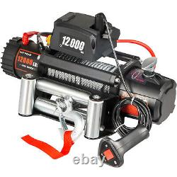 12000LBS Electric Winch 12V Steel Cable Off-road ATV UTV Truck Towing Trailer