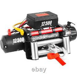 12500LBS Electric Winch 12V Steel Cable Off-road ATV UTV Truck Towing Trailer