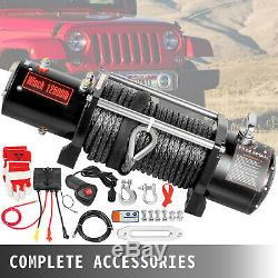 12500LBS Electric Winch 12V Synthetic Cable Truck Trailer Towing Off-Road 4WD