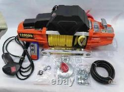 12V 13000LBS Electric Trailer Winch Remote Control Windlass for Boat Truck SUV