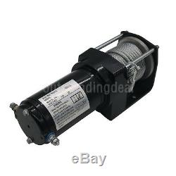 12V 3000LB Electric ATV UTV Rope Cable Winch Truck Boat Trailer Lifting Sling os