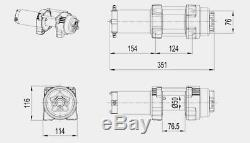 12V 4000LBS 1818KG Electric Winch Steel Cable Universal ATV UTV Truck Car Boat