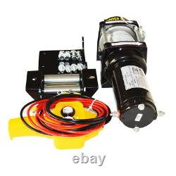 12V 4500LBS Electric Winch Steel Cable Truck Trailer Towing Off Road
