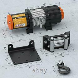 12V 4500LBS Electric Winch Towing Truck Trailer Steel Cable Off Road 4WD