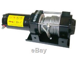 12V ELECTRIC WINCH 4X4 1360Kg / 3000LBS, 1000W 1.34PS MOTOR, 9.2M LENGTH Ø5.5MM