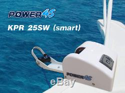 12V Electric Anchor Winch For Saltwater White 25LBS Marine Boat Yacht Pontoon