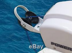12V Electric AutoDepoly Standard Anchor Winch 45 lb. Saltwater Black Marine Boat