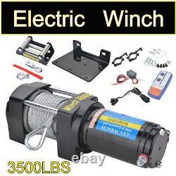 12V Electric Recovery Winch 3500lb Wireless Caravan Hoist Heavy Duty Trailer UK