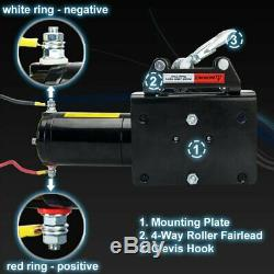 12V Electric Winch 3500lbs/1591kg for UTV ATV Boat with Handheld Remote and C