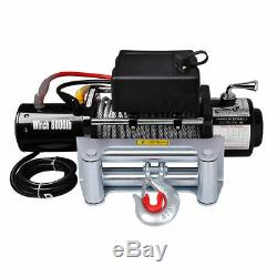 12V Electric Winch 8000Lb Recovery Truck ATV SUV Trailer 5.5HP Towing Strap Hook