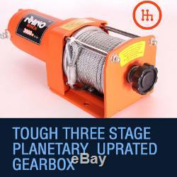 12v Electric Winch, 3000lb Heavy Duty, ATV, Trailer, Boat 4x4 Recovery RHINO