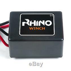 12v Electric Winch 3000lb Jet Ski 4x4 Car Small Compact Heavy Duty RHINO WINCH