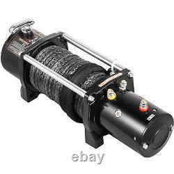 13000LBS Electric Winch 12V Synthetic Cable Truck Trailer Towing Off-Road 4WD