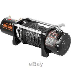 13000LBS Electric Winch 12V Synthetic Rope Off-roadATV UTV Truck Towing Trailer