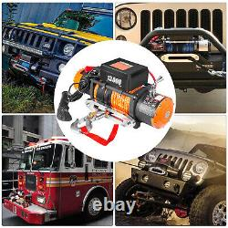 13000LBS Electric Winch 12V Synthetic Rope Off-road ATV Truck Towing Trailer 4WD