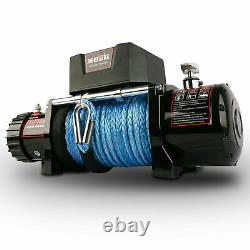 13000LBS SYNTHETIC ROPE WINCH Waterproof IP67 with Wireless Handheld Remote