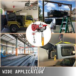 1320LBS Electric Hoist 600KG Wire Remote Control Garage Auto Shop Overhead Lift