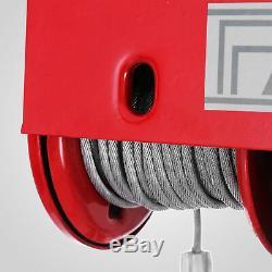 1320Lbs Electric Hoist Winch Lifting Engine Crane Lift Hook Brackets Ceiling