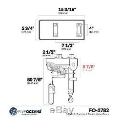 1320 LB. Overhead Electric Hoist Crane Five Oceans FO-3782