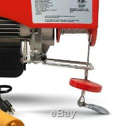 1320 Lb Overhead Electric Hoist crane lift garage winch 110V FO-3782-2