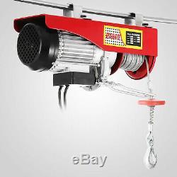1500Lbs Electric Hoist Winch Lifting Engine Crane Garage Lift Hook Overhead