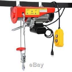1500Lbs Electric motor Wire Hoist Garage Overhead Lift Hoist Winch