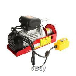 1500Lbs Electric motor Wire Hoist Garage Overhead Lift Hoist Winch + Instruction