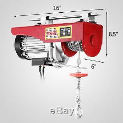1500 Lb Overhead Electric Hoist crane lift garage winch withremote 110V