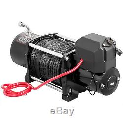 15500LBS Electric Winch 12V Synthetic Cable Truck Trailer Towing Off-Road 4WD