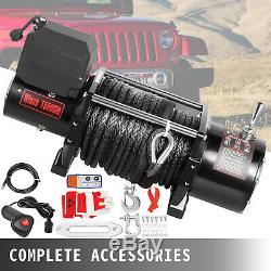 15500LB Electric Winch 12V Synthetic Cable Off-road ATV UTV Truck Towing Trailer