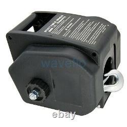 2000LBS Boat Electric Winch Portable Wireless Remote Control Trailer Winch 12V