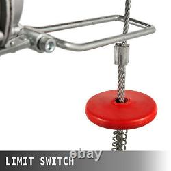 2000 LBS Electric Hoist Winch Hoist Crane Lift 110V Industrial 1800W