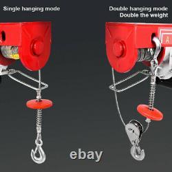2200LB Electric Wire Hoist Winch Hoist Crane Lift 110V 40ft With Remote Control