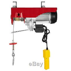 2200Lbs Electric Hoist Winch Lifting High Carbon Cable Heavy Duty HM
