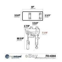 220 LB. Overhead Electric Hoist Crane Five Oceans FO-4344-1