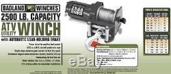 2500 lb 12V Electric UTV ATV MULE BOAT Winch with Wireless Remote Control