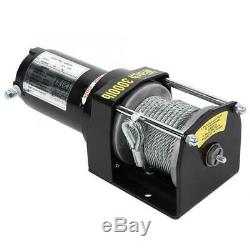 3000lbs 12m 12V Electric Car Winch Wire Recovery Winch Towing Cable Remote