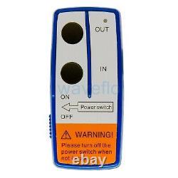 3500LBS Boat Electric Winch Portable Wireless Remote Control Trailer Winch 12V