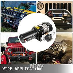 3500LBS Electric Winch Synthetic Rope Trailer Off Road For Boat Truck Pickup SUV