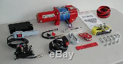 3500lb New Runva ATV UTV 12V Towing Recovery Electric Winch With Synthetic SD Pack